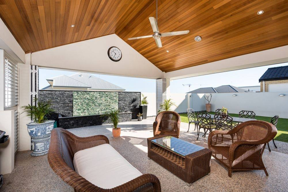Patio Area with timber ceiling installed by UI Building & Improvements Geraldton